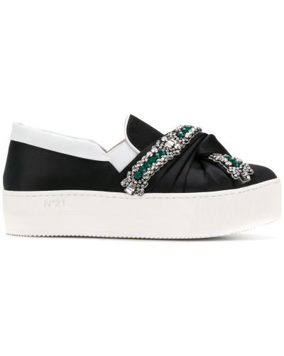 Besuch Günstig Kaufen Geniue Händler N° 21 Damen knotted platform embellished sneakers Xzi4suO