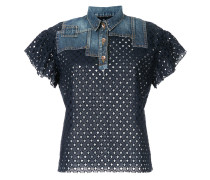 Poloshirt in Patchwork-Optik