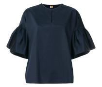 peplum cuff blouse