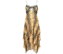 Camisole-Kleid mit Jaguar-Print
