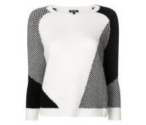 patchwork crewneck sweater