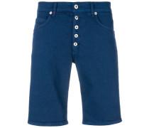 Jeans-Shorts mit Knopfleiste