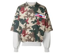 Camouflage-Sweatshirt im Layering-Look