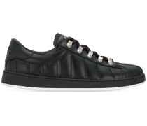 quilted lace-up sneakers