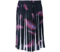 'Feathers Print Crepe de Chine' Rock