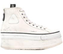 Flatform-Sneakers mit Logo