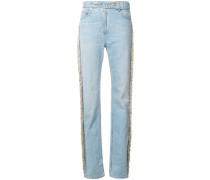 Jeans mit Perlenfransen