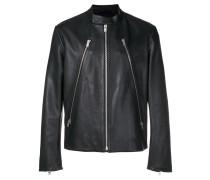 slim fit biker jacket