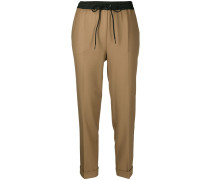 P.A.R.O.S.H. cropped drawstring trousers