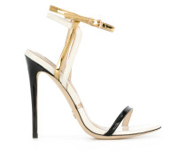 metallic open-toe sandals