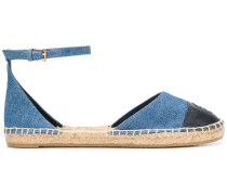 Jeans-Espadrilles mit Knöchelriemen
