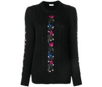 Pullover mit Blumendetails