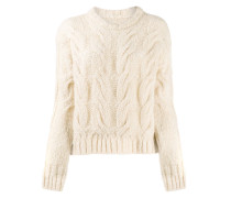 boxy cable-knit jumper