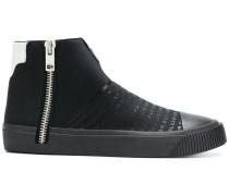 zip hi-top sneakers