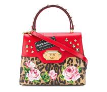 'Welcome' Handtasche mit Leoparden-Print