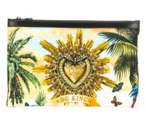 "Clutch mit ""Tropical King""-Print"