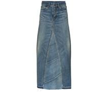 Jeansrock mit hohem Bund