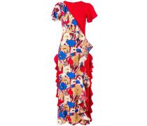 Volant-Kleid mit kurzen Ärmeln