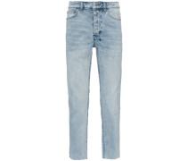 Cropped-Jeans mit ausgeblichenem Effekt