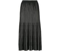 G.V.G.V. sheer stripe knitted skirt