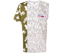 T-Shirt mit asymmetrischen Streifen
