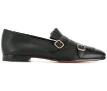 buckle fringe loafers