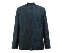 Jacke mit floraler Jacquard-Musterung