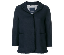 'S Max Mara frayed edge trim jacket