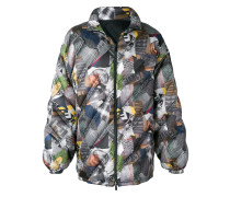 printed padded jacket