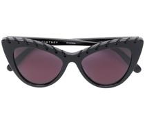Cat-Eye-Sonnenbrille mit Zierkette