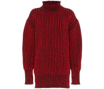 Gerippter Pullover in Distressed-Optik
