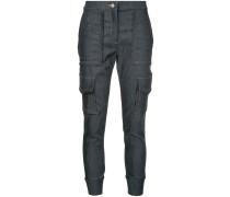 Cropped-Jeans mit Cargotasche