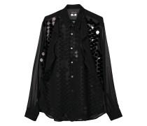 sheer sequin embellished shirt