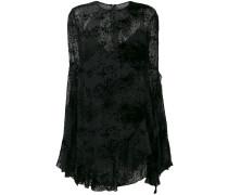 long-sleeve flared mini dress