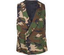 Weste mit Camouflage-Print