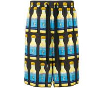 Shorts mit Flaschen-Print