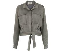 drawstring cropped jacket