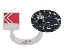 Ring in Colour-Block-Optik