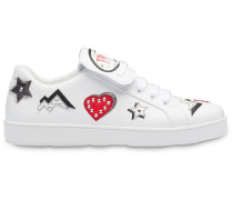Saffiano-Sneakers mit Patches