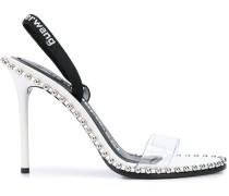 Slingback-Sandalen mit Nieten