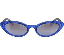 Cat-Eye-Sonnenbrille mit Glitzer