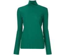 turtleneck plain blouse