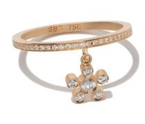 18kt 'Amelia Soleil' Gelbgoldring mit Diamanten