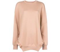 frill-trim shift sweatshirt