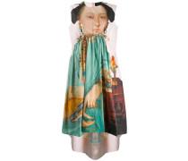 Kleid mit Porträt-Print