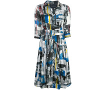 'Audrey' Kleid mit abstraktem Print