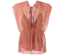 anglaise broderie Metal blouse