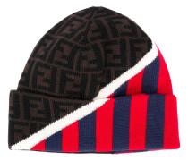 Gestreifte Mütze mit FF-Logos