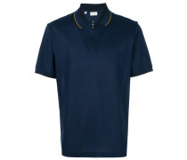 zipped collar polo shirt