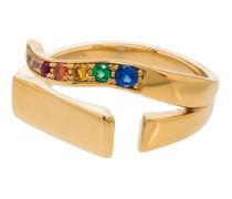 24kt vergoldeter 'T' Ring